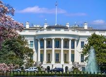 Het Witte Huis van het Zuidengazon wordt bekeken op een heldere dag - Washington D die C , de V Royalty-vrije Stock Foto's