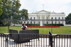Het Witte Huis Zware Veiligheid 17 Juli, 2017 van Verenigde Staten Royalty-vrije Stock Foto's