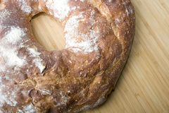 Het witte Italiaanse heerlijke gebakken brood van de baksteenoven royalty-vrije stock foto