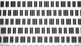 Het witte ivoor en de zwarte sleutels van een piano Vector Illustratie