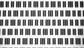 Het witte ivoor en de zwarte sleutels van een piano Stock Illustratie