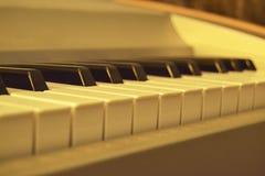Het witte ivoor en de zwarte sleutels van een piano Royalty-vrije Stock Foto's