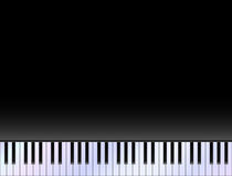 Het witte ivoor en de zwarte sleutels van een piano Stock Afbeelding