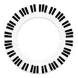 Het witte ivoor en de zwarte sleutels van een piano Stock Foto's