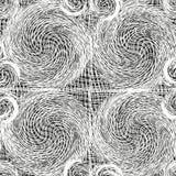 Het witte kantweefsel grunge wervelde naadloos patroon Royalty-vrije Stock Foto's