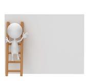 Het witte karakter zoekt Stock Afbeelding