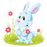 Het witte konijn van Pasen Royalty-vrije Stock Foto