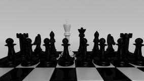 Het witte koning leiden Royalty-vrije Stock Afbeeldingen