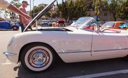 Het witte korvet van Chevrolet van 1954 Royalty-vrije Stock Foto