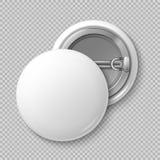 Het witte lege badging om knoopkenteken geïsoleerd vectormalplaatje stock illustratie