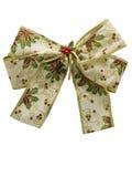 Het witte lint van de Kerstmisgift Stock Foto