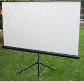 Het witte matte driepootscherm Royalty-vrije Stock Afbeeldingen