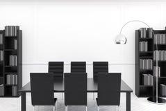 Het witte moderne binnenland van de conferentieruimte Stock Afbeelding