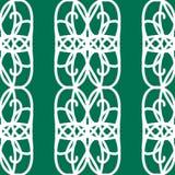 Het witte mozaïek siert naadloos patroon Stock Afbeelding