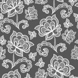 Het witte naadloze kantpatroon met nam op transparante achtergrond toe royalty-vrije illustratie