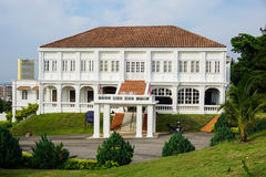 Het Witte Paleis in Melaka, Maleisië stock fotografie