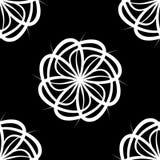Het witte Patroon van de Bloem Royalty-vrije Stock Afbeeldingen