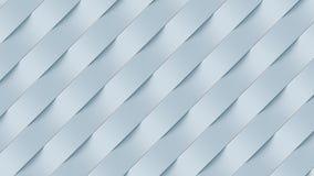 Het witte patroon van de golfband abstracte oppervlakte het 3d teruggeven Stock Afbeelding