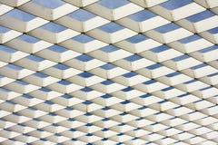 Het witte Patroon van de Staalfabriek Stock Afbeeldingen