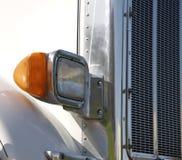 Het witte Semi Detail van de Vrachtwagen stock afbeelding