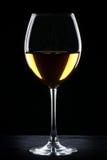 Het witte silhouet van het wijnglas Stock Afbeelding