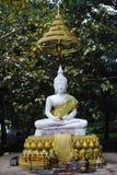Het witte standbeeld van Boedha Royalty-vrije Stock Fotografie