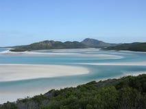 Het witte strand van het Toevluchtsoord stock foto's
