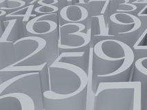 Het witte symbool van de wiskunde Stock Foto's