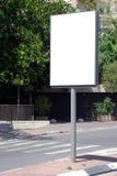 Het witte Teken van de Straat Royalty-vrije Stock Foto's