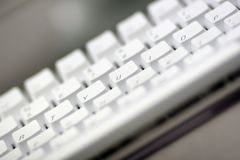 Het witte Toetsenbord van de Computer Royalty-vrije Stock Afbeelding
