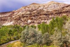 Het witte van de het Capitoolertsader van de Zandsteenberg Nationale Park Utah Stock Foto