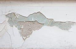 Het witte verf pealing aan de kant Stock Afbeeldingen