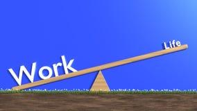 Het witte het woordenleven en werk aangaande een geschommel met het werk die zwaardere FL zijn Stock Foto