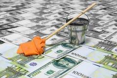 Het witwassen van Geld Het concept corruptie royalty-vrije stock foto