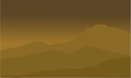 Het Woestijnlandschap royalty-vrije illustratie