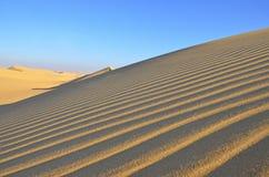 Het woestijnlandschap in Giza, Egypte Royalty-vrije Stock Fotografie
