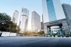 Het wolkenkrabbersgebied van de binnenstad van Guangzhou, China stock afbeeldingen