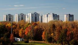 Het woon complexe district van de Jeugdavtozavodsky van Nizhny Novgorod Royalty-vrije Stock Fotografie