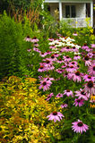 Het woon tuin modelleren stock fotografie