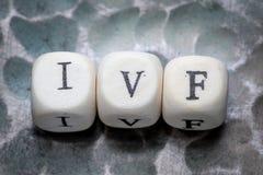 Het woord ivf stock fotografie