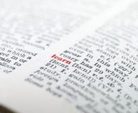 Het woord ?leert? benadrukt Royalty-vrije Stock Afbeeldingen