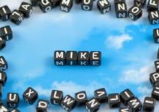 Het woord Mike royalty-vrije stock afbeeldingen
