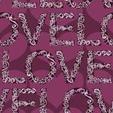 Het woord naadloze van de liefde tegel als achtergrond Royalty-vrije Stock Afbeeldingen