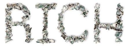 Rijk - Geplooide Rekeningen 100$ Royalty-vrije Stock Foto