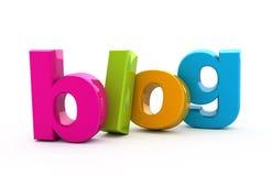 Het woord van Blog. stock illustratie