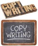 Het woord van Copywriting Stock Foto's