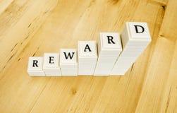 Het woord van de beloning Stock Foto's