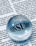 Het woord van de consument in krant Stock Foto's