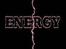 Het woord van de energie vector illustratie