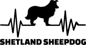 Het woord van de de Herdershondhartslag van Shetland stock illustratie